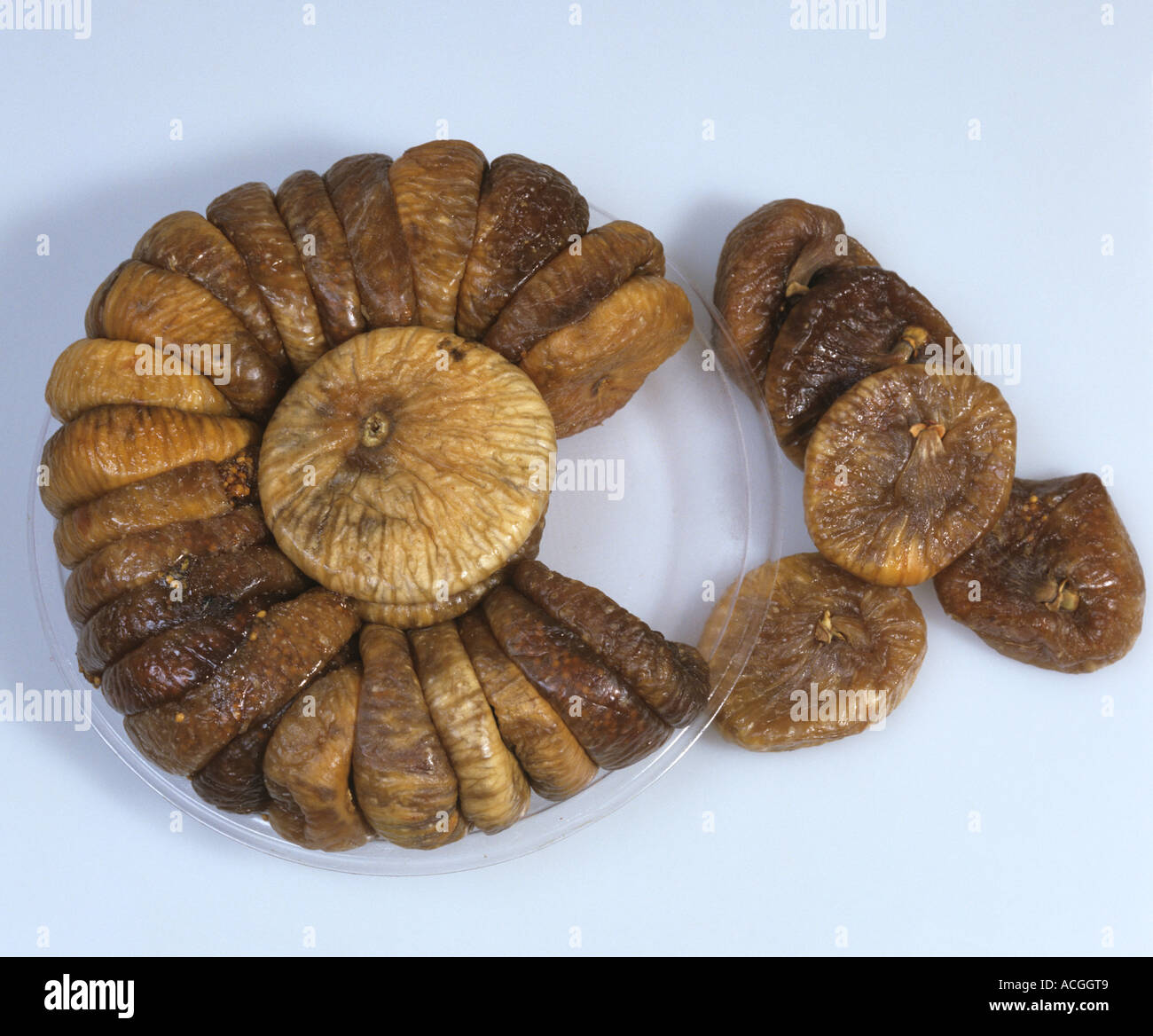 A retail pack of dried figs from the Middle East a source of iron - Stock Image