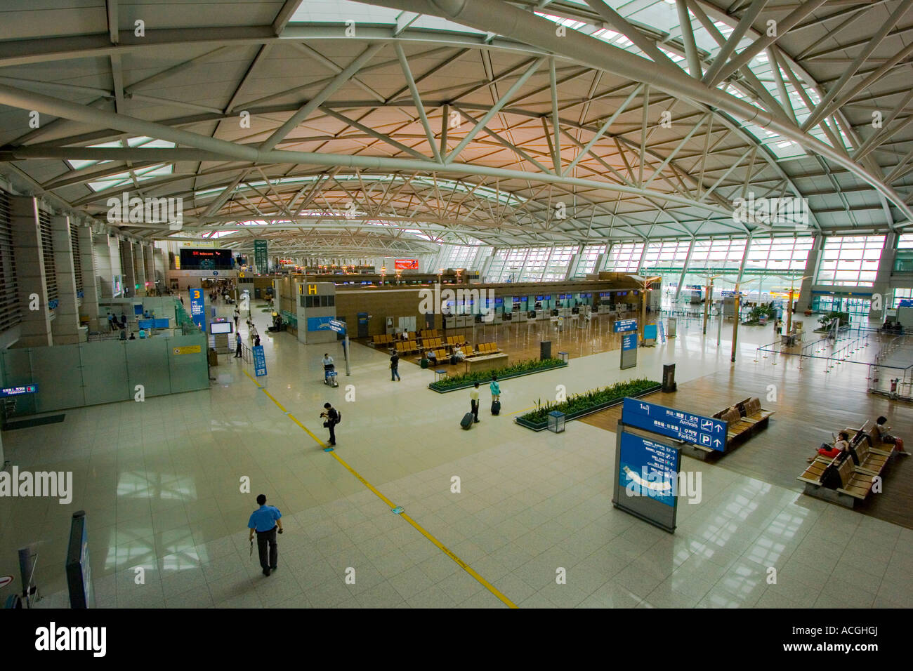 Inside Grand Incheon International Airport ICN Seoul South Korea ...