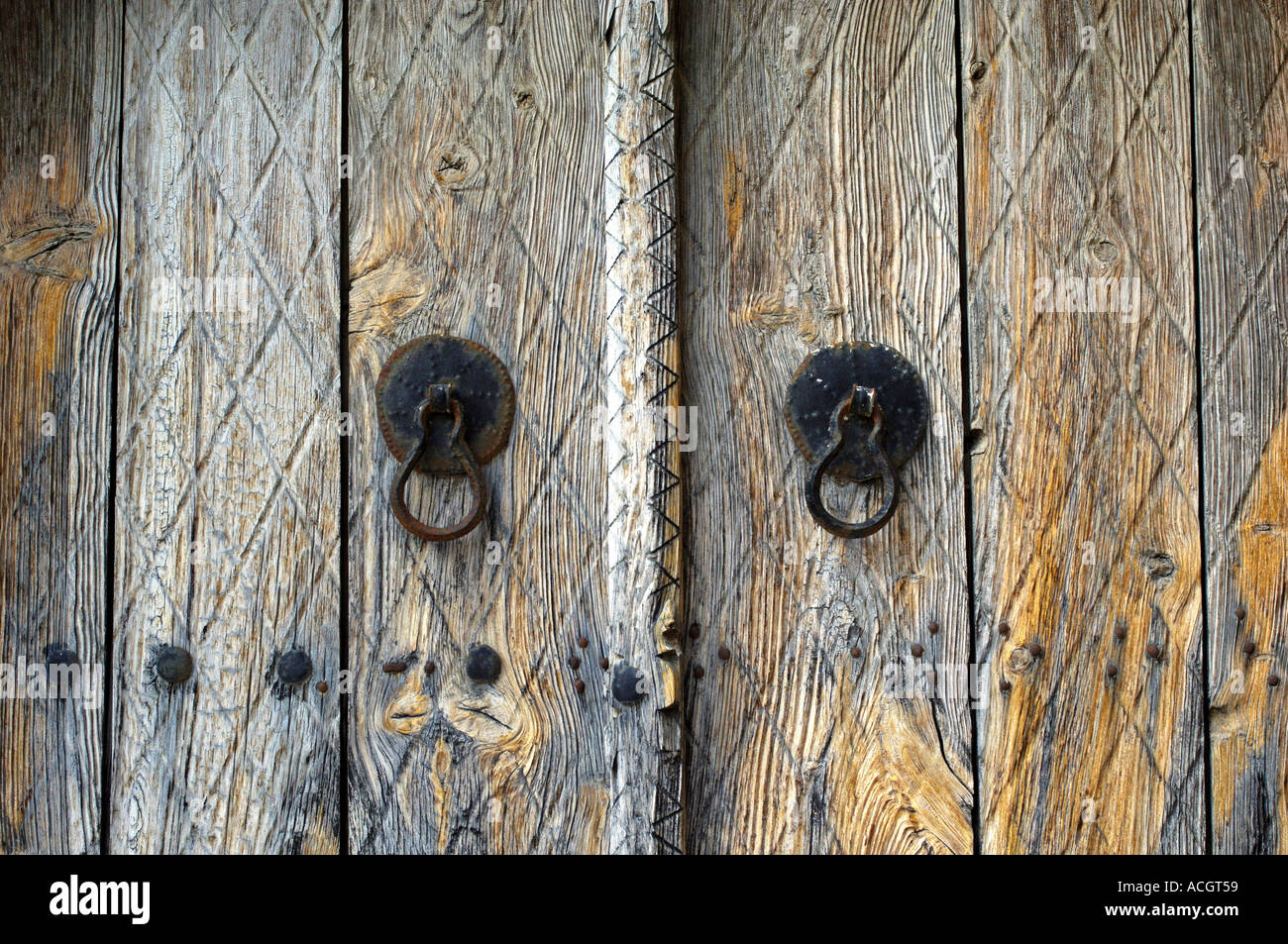 Old Fashioned Doors In Cyprus