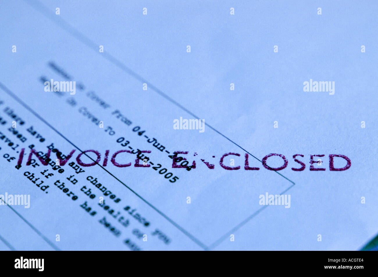 Invoice Business Stamp - Stock Image