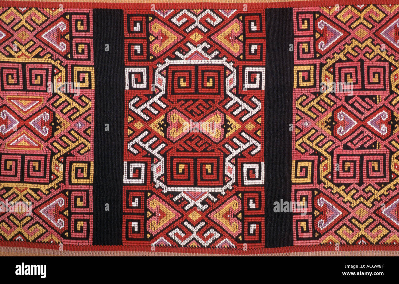Brocaded skirt fabric from Timor Indonesia Stock Photo
