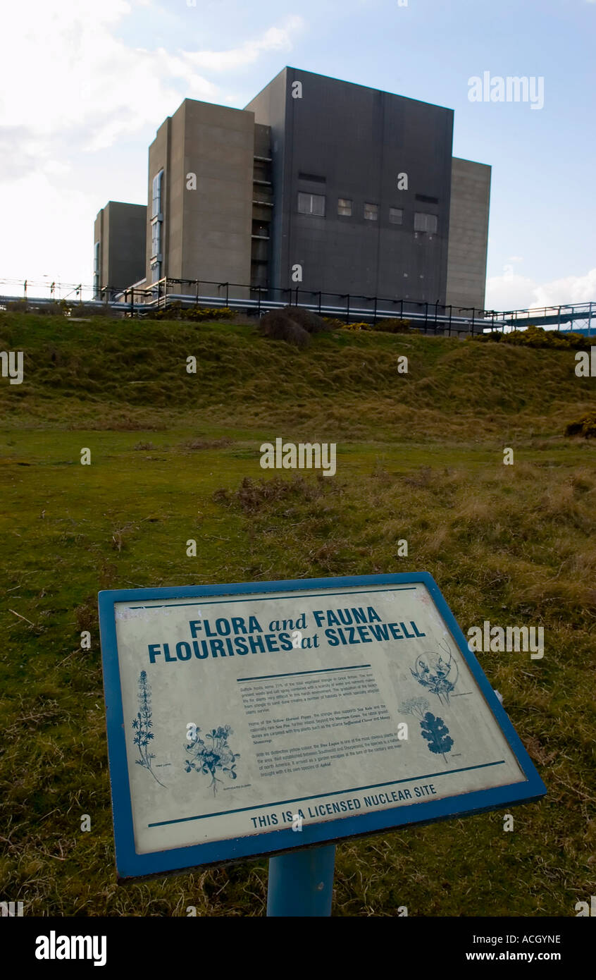 Sizewell A Magnox Nuclear Power Station Suffolk England UK - Stock Image
