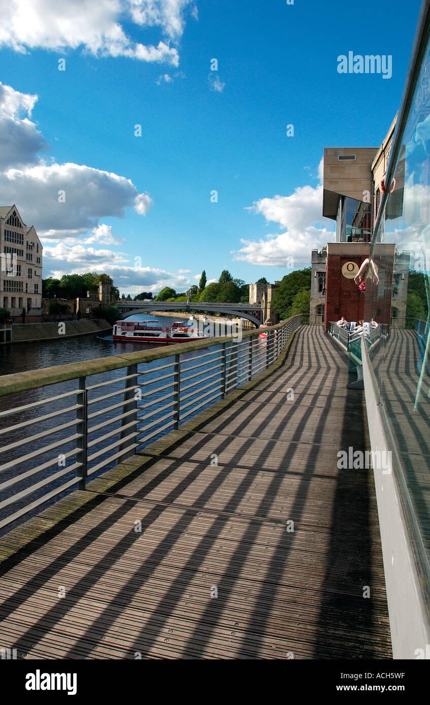 Riverside regeneration, York, UK (10) Stock Photo