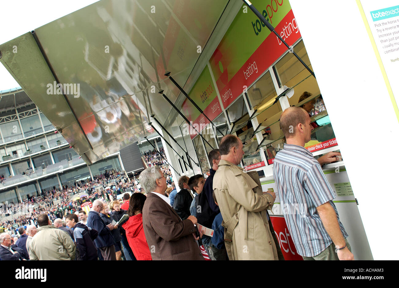Punters betting at York Racecourse - Stock Image