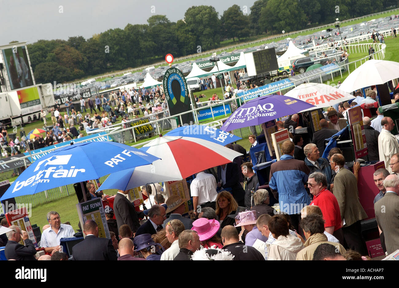 Punters at York Racecourses (1) - Stock Image