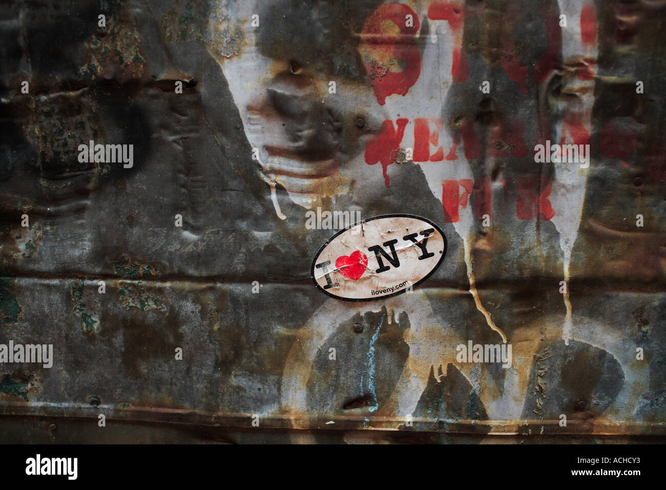 I love new york found art artworks - Stock Image