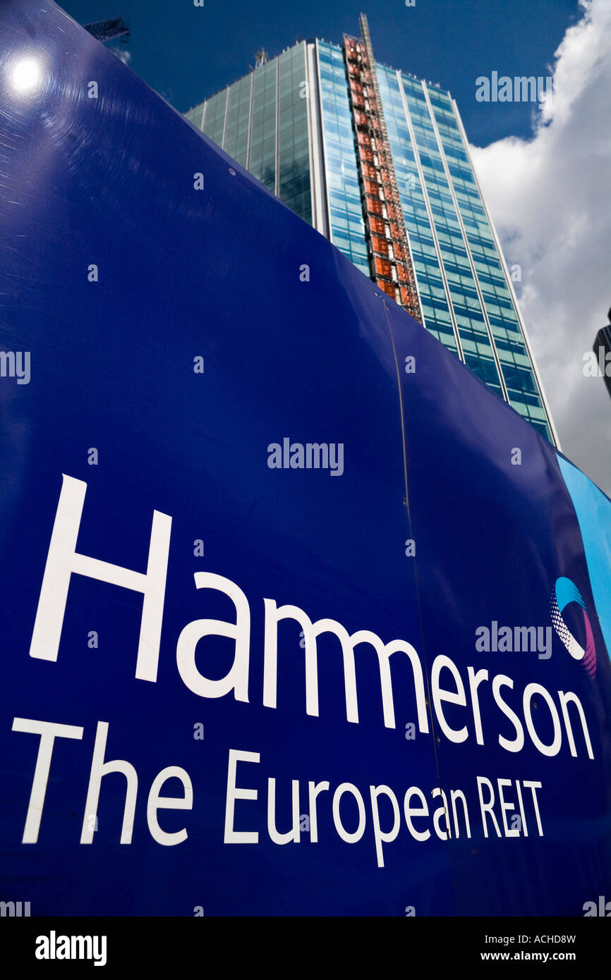 Hammerson real estate company redeveloping the site of the old London Stock Exchange - Stock Image
