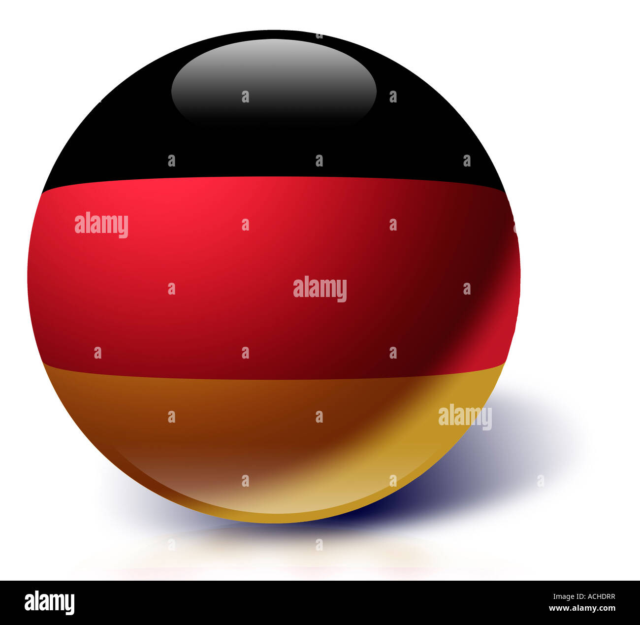 Germany flag as a glass ball - Stock Image