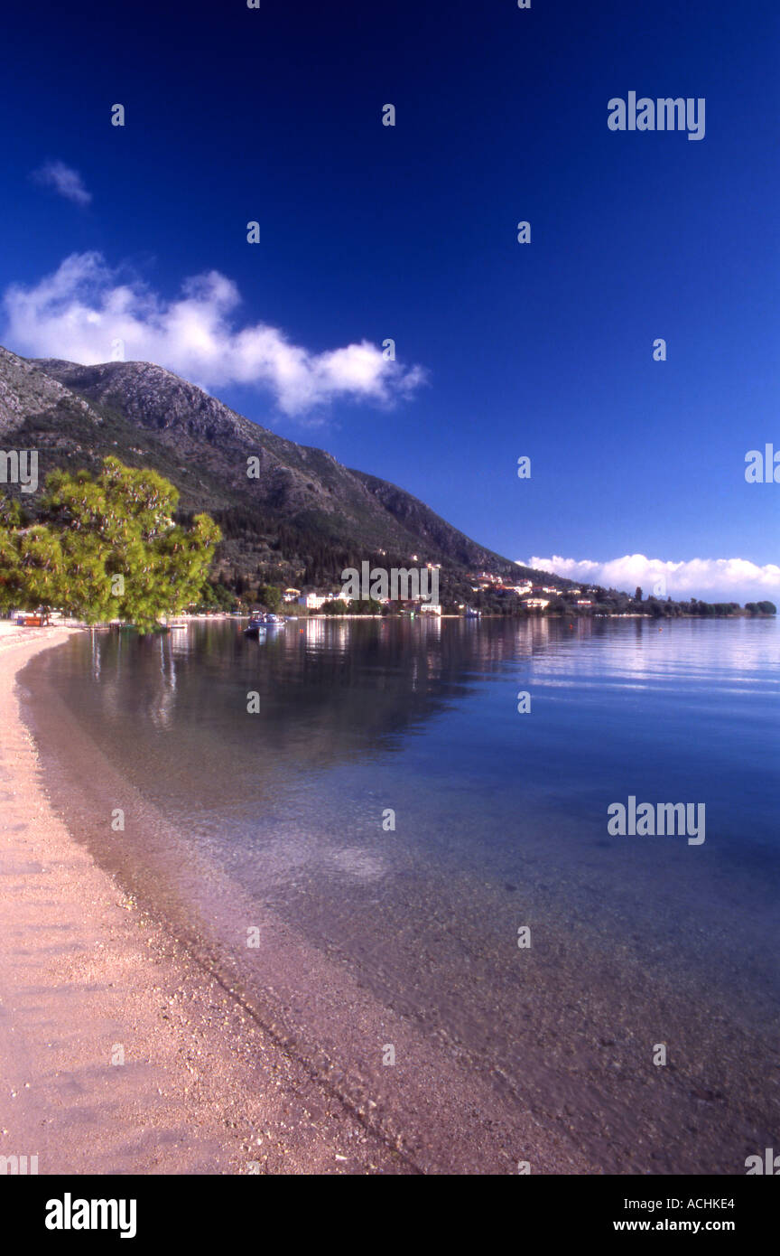 Greece Ionian Islands A deserted sandy bay at Nydri Lefkada - Stock Image
