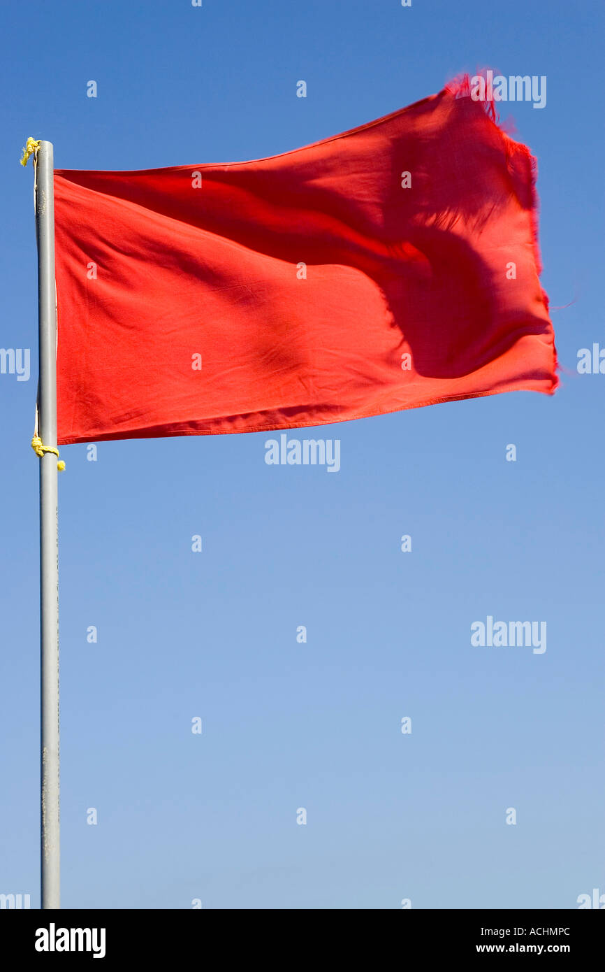 Red flag - Stock Image