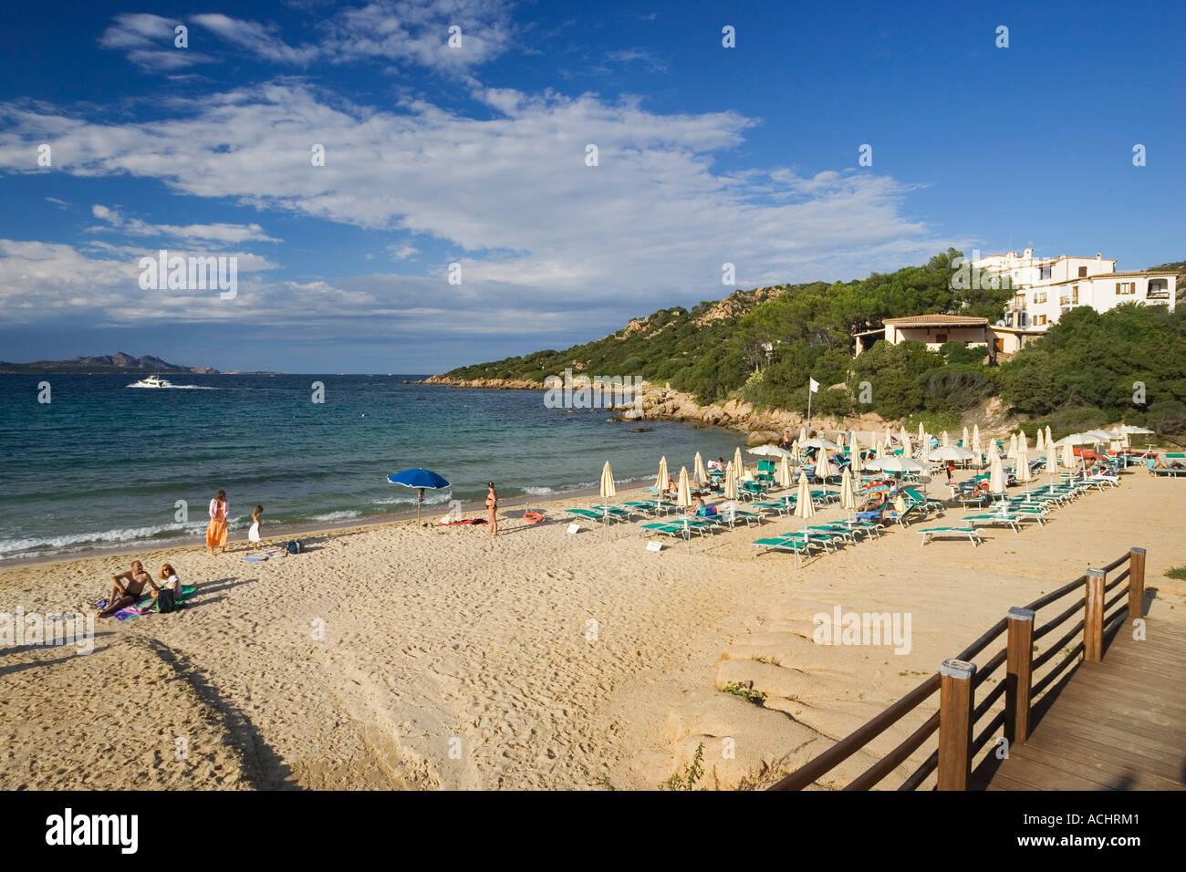 Baja Sardinia beach, Sardinia, Italy - Stock Image