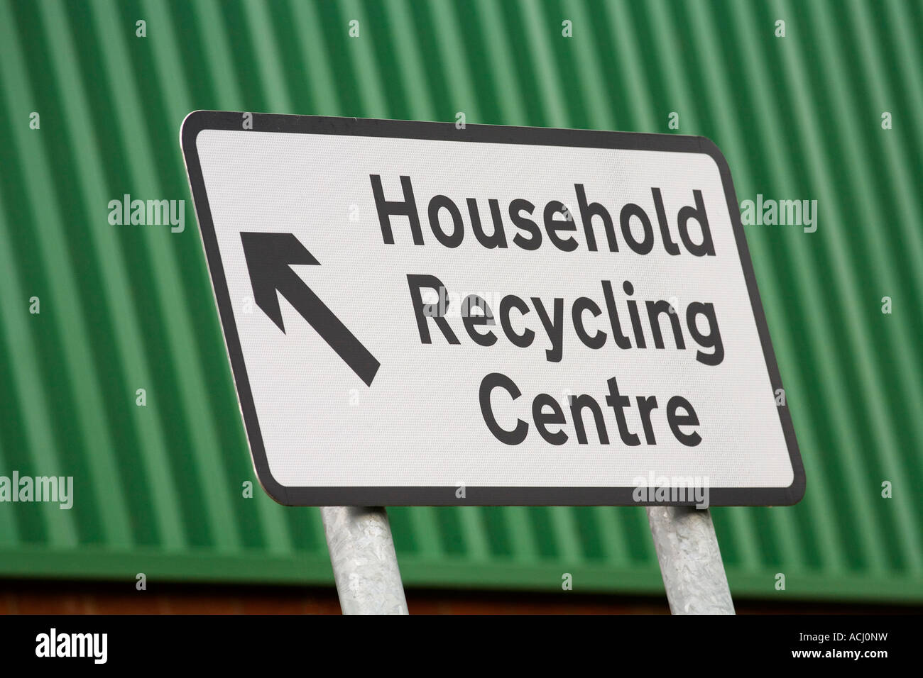 Household recycling centre street sign - Stock Image