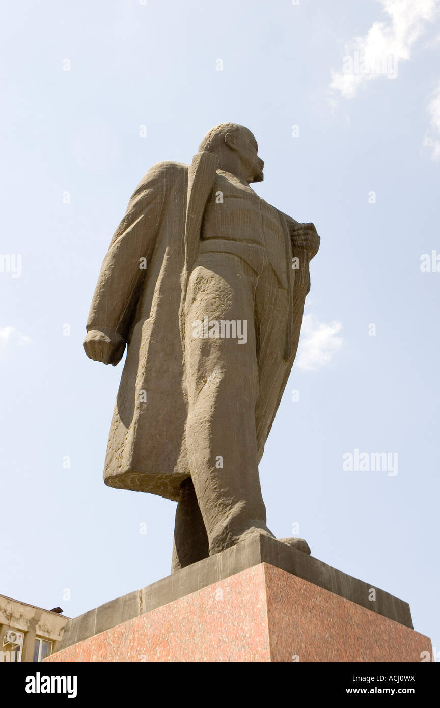 Lenin statue in the main square of the North Caucasus city of Georgievsk in South Western Russia - Stock Image