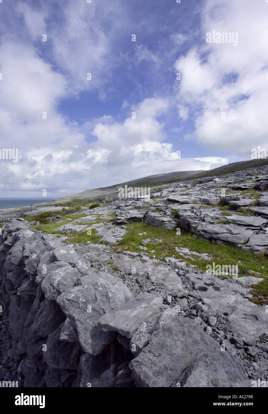 Burren, Fanore, Black Head, West of Ireland Burren way in Ireland - Stock Image
