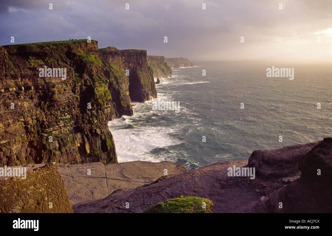 The Cliffs of Moher, Co Clare, Ireland. - Stock Image