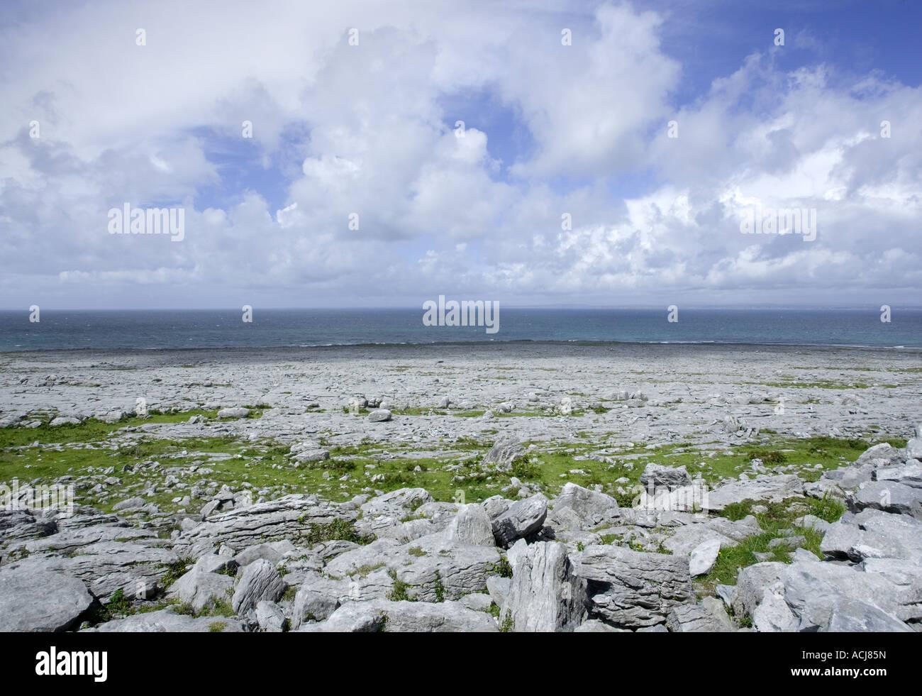 Burren, Fanore, Black Head, West of Ireland Burren way, Ireland - Stock Image