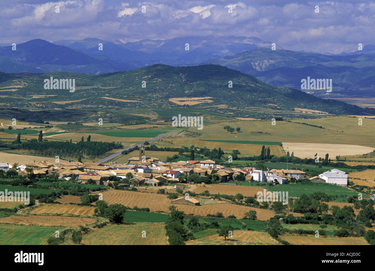 Foothills of Pyrrenees Bailo Huesca Spain - Stock Image