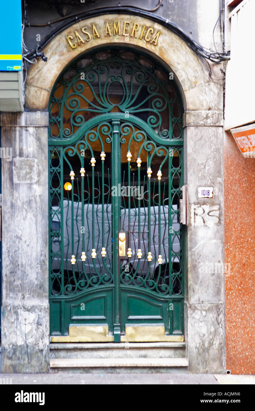 A Front Door To A Beautiful Building In Central City With Wrought