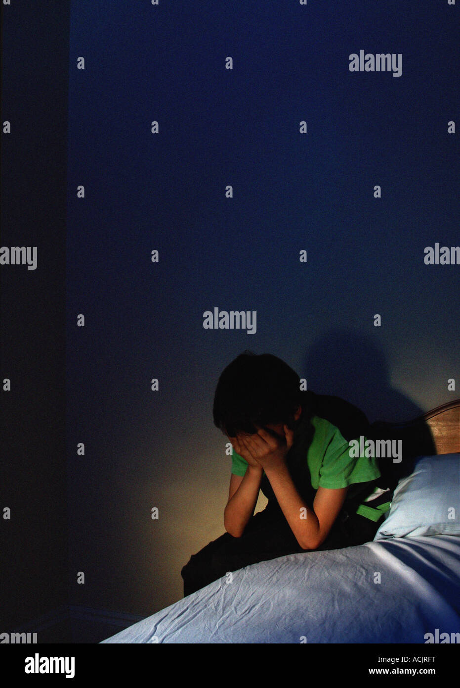 Alone Boy At Night Pic