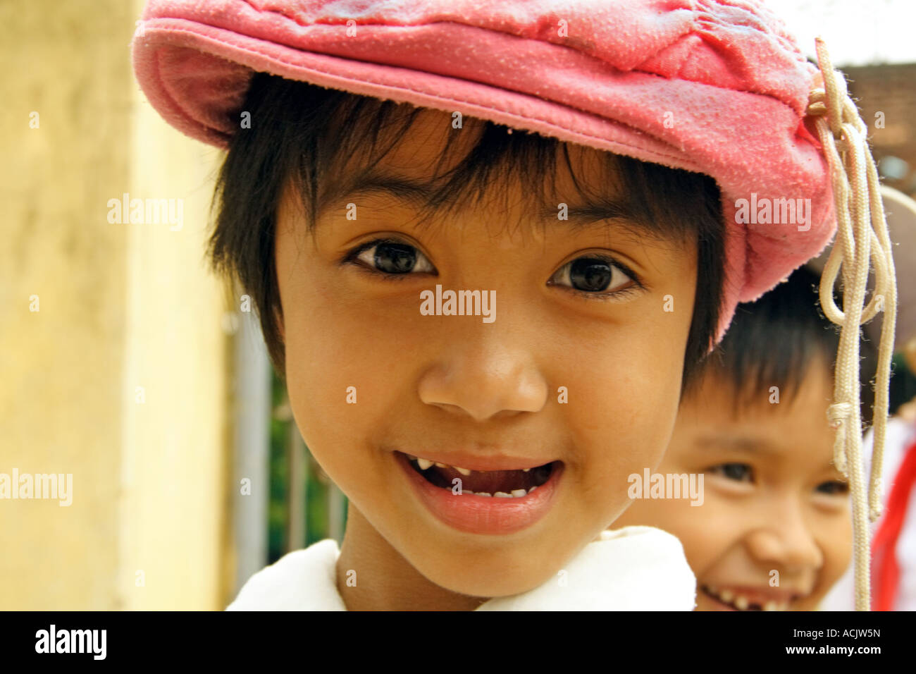 Portrait of a young Vietnamese schoolgirl Stock Photo
