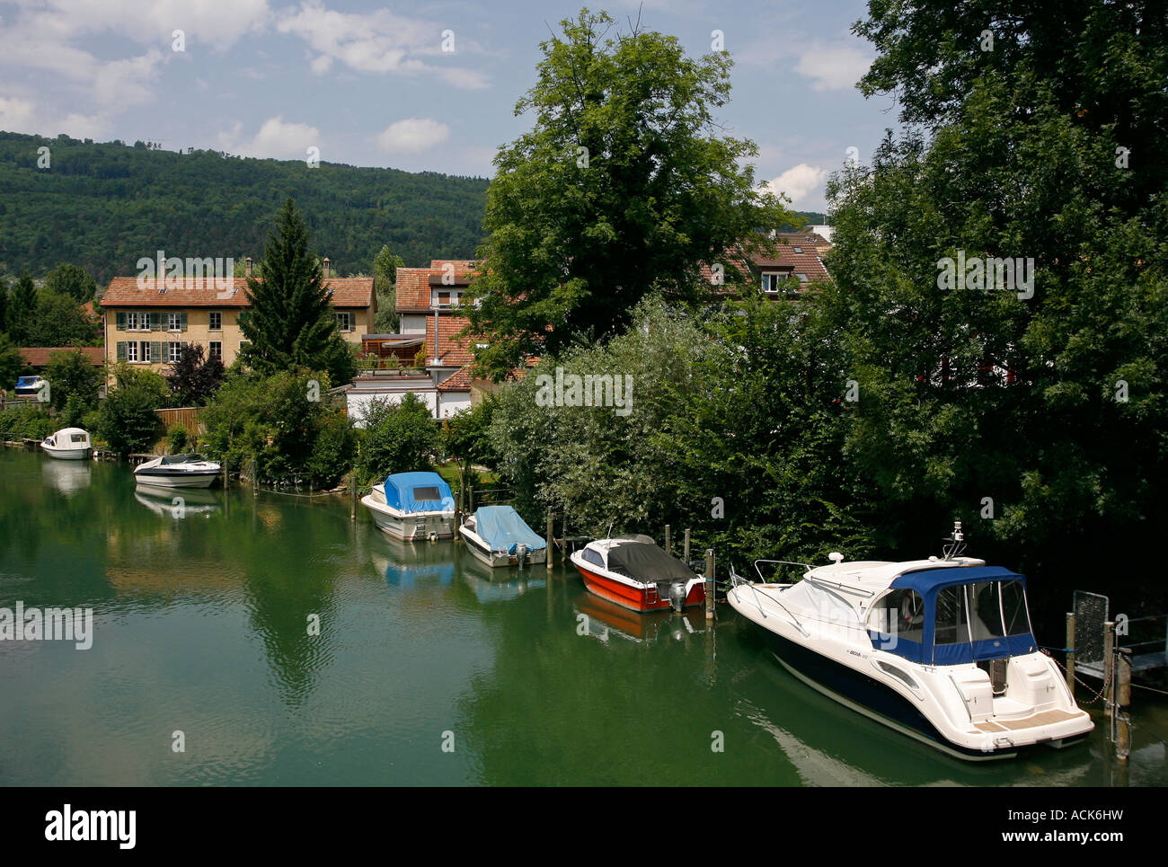 Biel Bienne Switzerland Europe - Stock Image