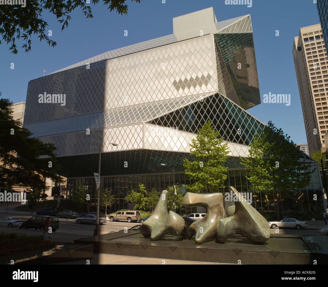 Seattle Public Library, Washington State, USA - Stock Image