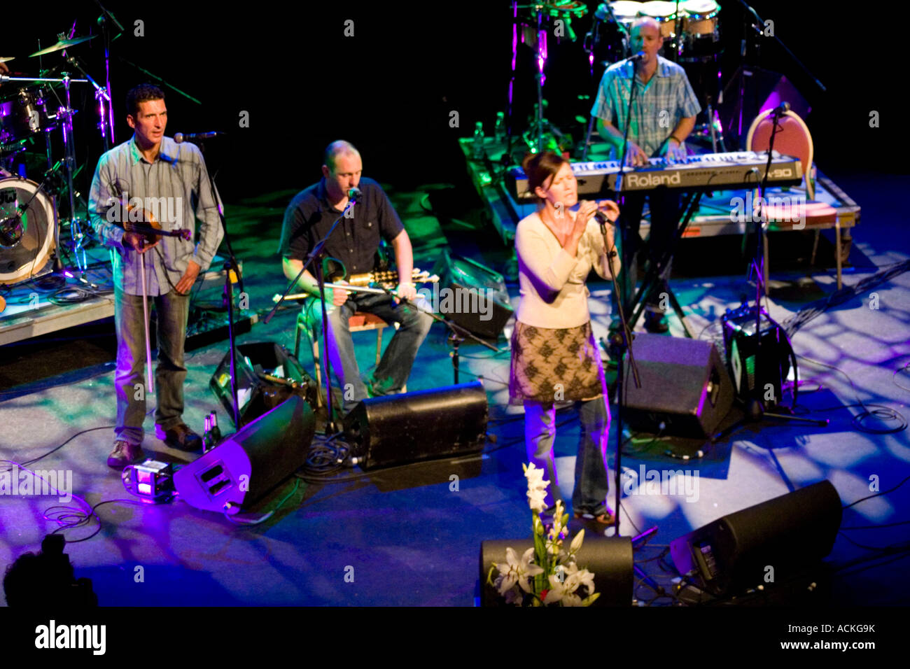 Irish and Scottish traditional music folk band Capercaillie