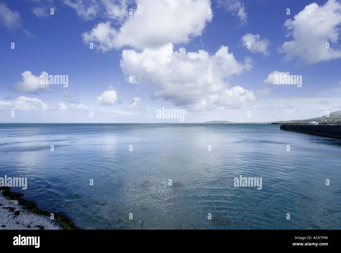 Ballyvaughan, harbour, harbor, west of Ireland, burren, burren way in Ireland - Stock Image