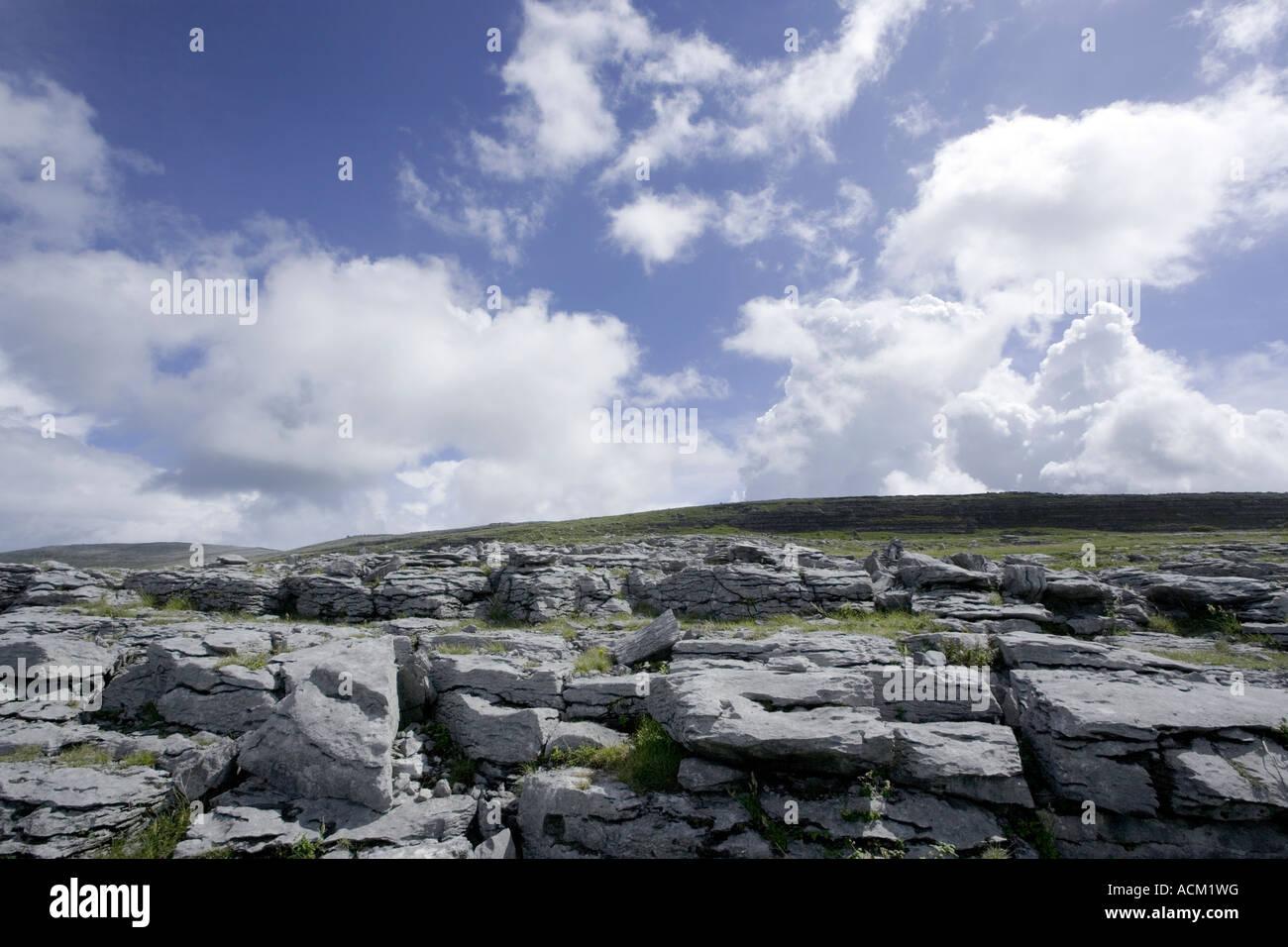 Burren, Fanore, Black Head, West of Ireland burren way in Ireland Stock Photo