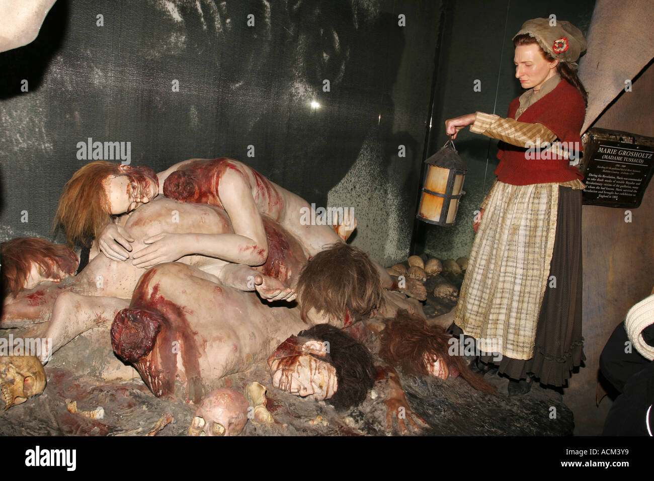 Beheaded people as waxworks replicas at Madame Tussauds London - Stock Image