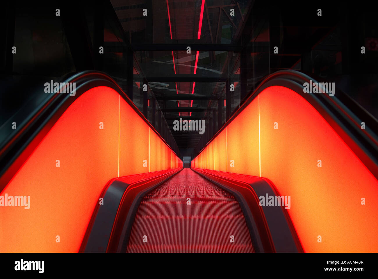 Moving staircase Zeche Zollverein - Stock Image