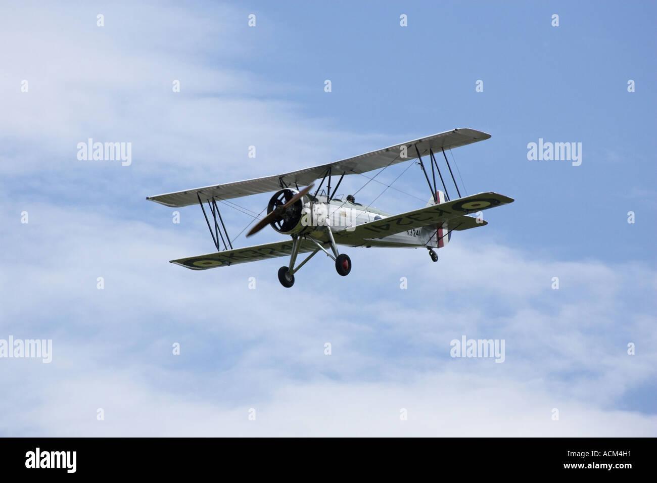 Avro Tutor RAF Bi plane trainer - Stock Image