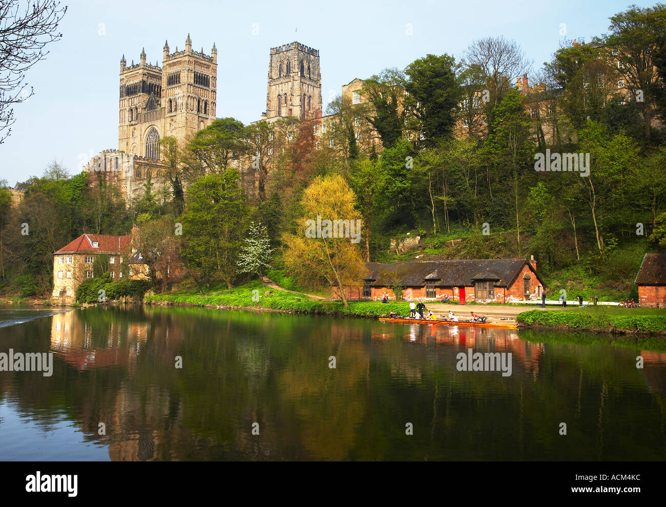 River Wear Durham Cathedral Durham City England Stock Photo 7534395