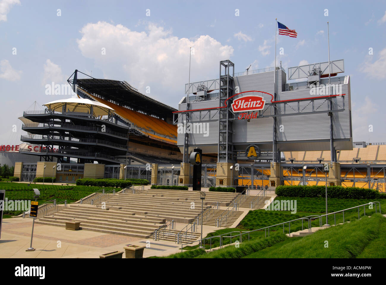 Heinz Field the home of the professional football team Pittsburgh Steelers in the city of Pittsburgh Pennsylvania - Stock Image