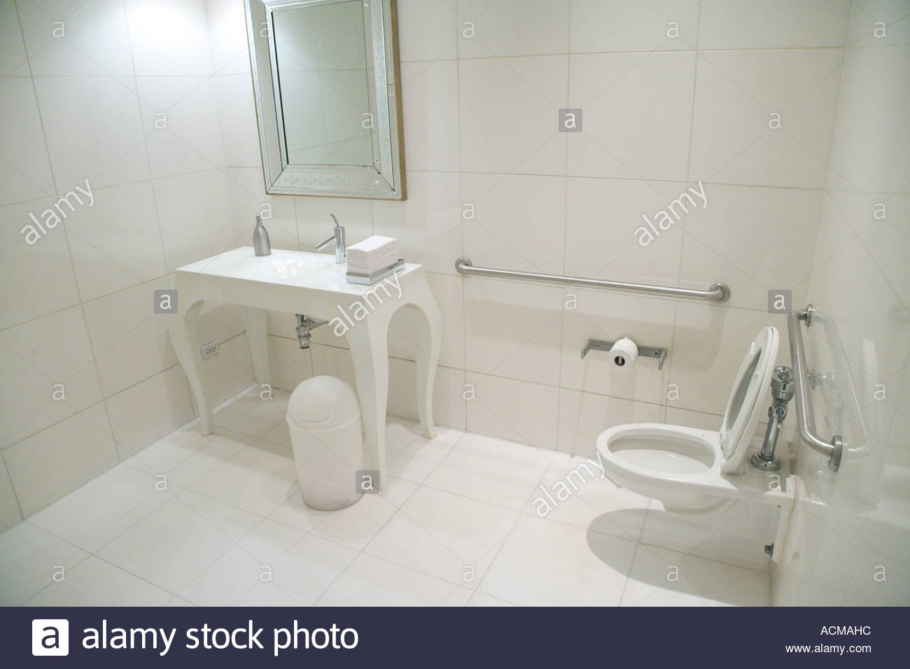 a very large white public toilet room Stock Photo 7535515 Alamy
