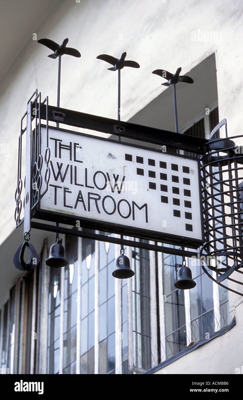 Scotland Glasgow The Willow Tea Rooms designed by the famous architect Charles Rennie Mackintosh Stock Photo