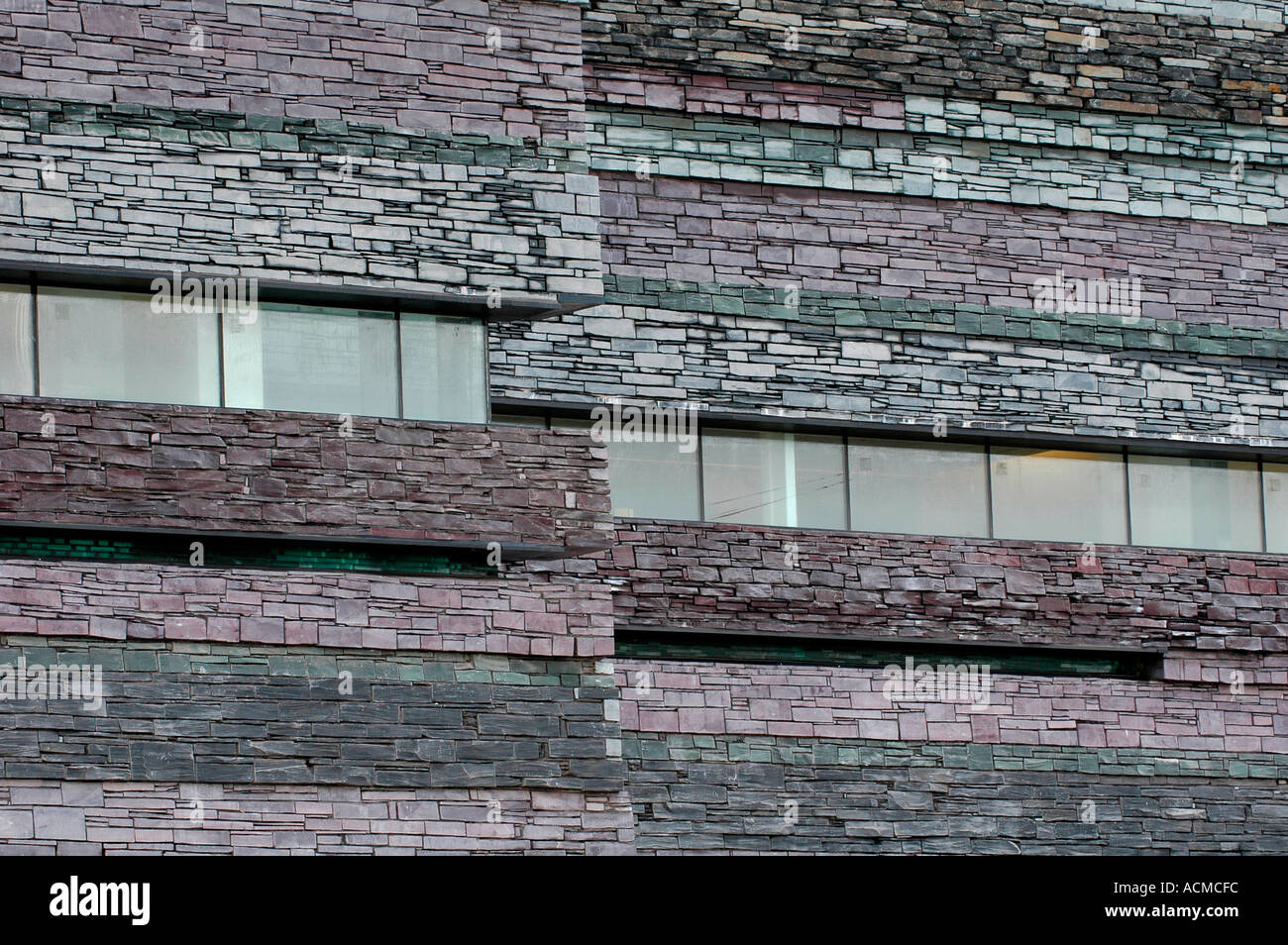 Welsh Slate Cladding On Exterior Wall Of The Wales Millennium Centre  Cardiff Bay South Wales UK