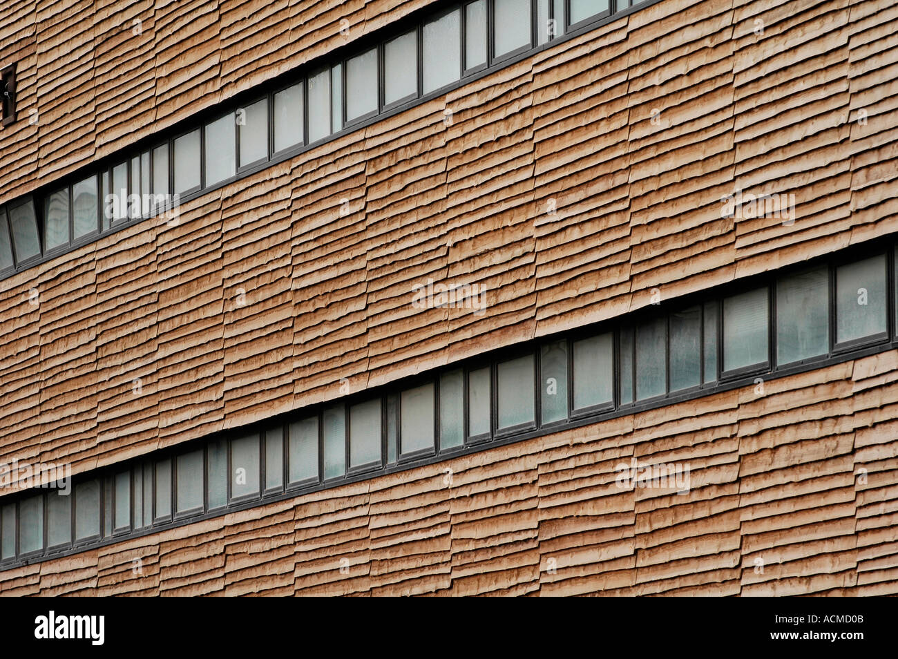 Exterior Timber Cladding And Windows On Rear Of The Wales Millennium Centre  Cardiff Bay South Wales UK