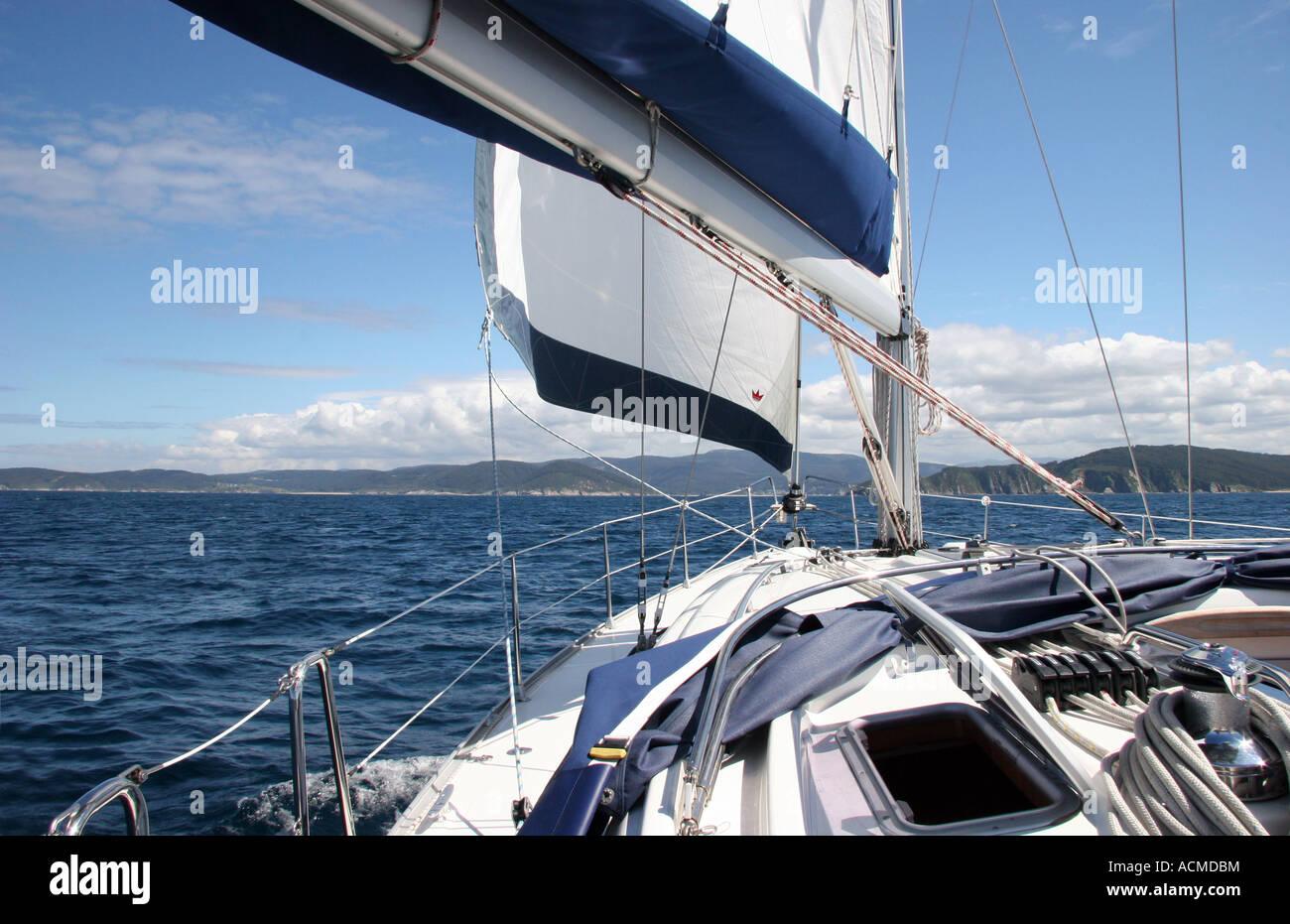 Bavaria yacht - Stock Image