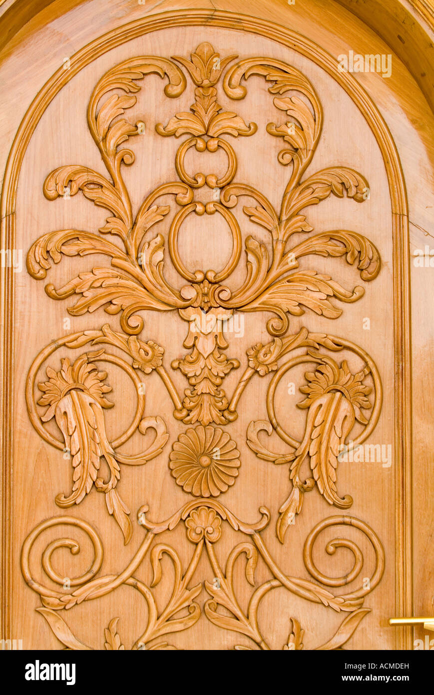 A DECORATIVE WOODEN DOOR PANEL WITH ELABORATIVE HANDICRAFT WORK DONE ON IT  sc 1 st  Alamy & A DECORATIVE WOODEN DOOR PANEL WITH ELABORATIVE HANDICRAFT WORK DONE ...