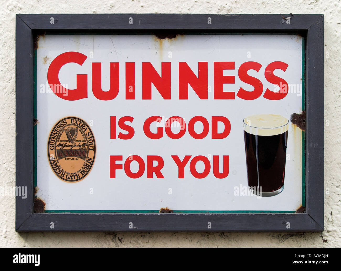 Guinness is good for you advert at Bunratty Folk Park Co Clare Ireland Stock Photo
