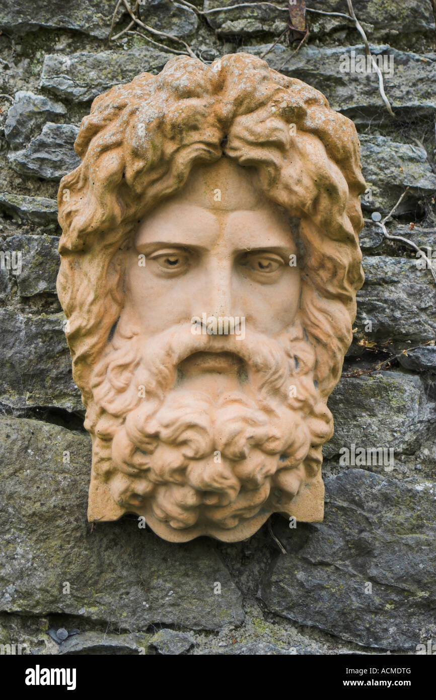 A stone face at Bunratty Folk Park Co Clare Ireland Stock Photo