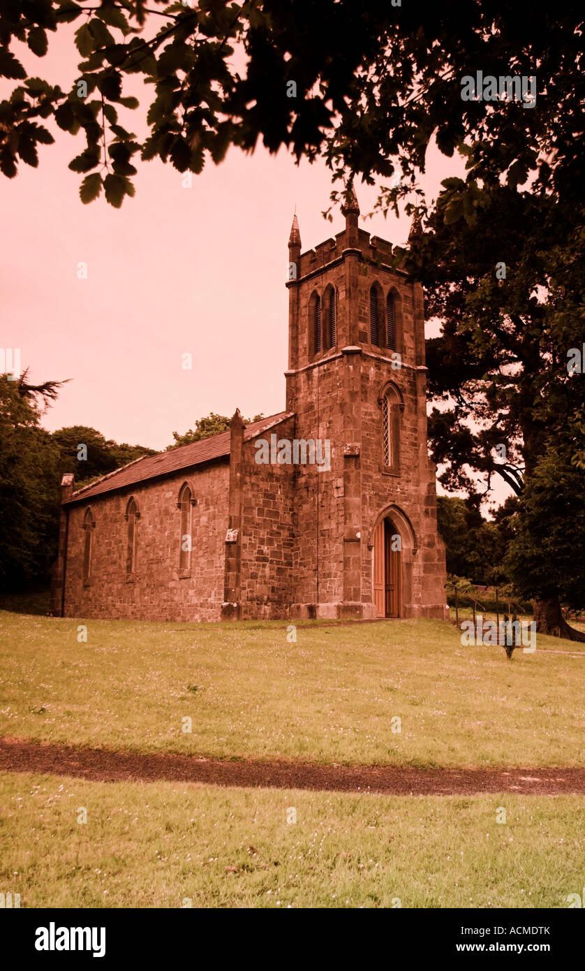 Ardcroney Church rebuilt in Bunratty Folk Park Co Clare Ireland - Stock Image