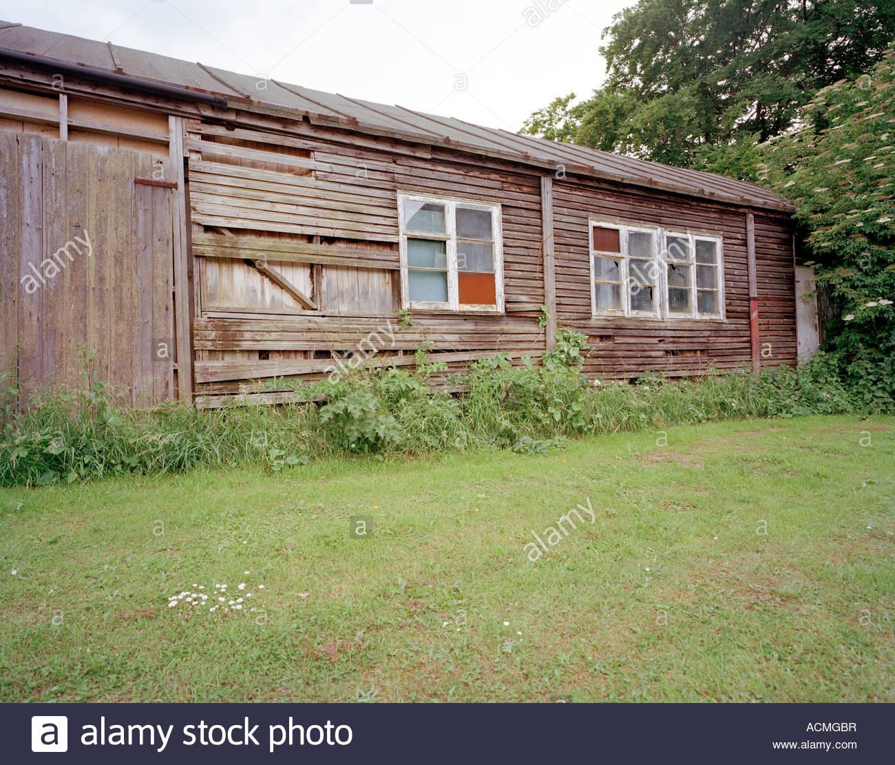 World war two dispersal hut for fighter pilots, RAF Biggin Hill, Kent, England, UK. - Stock Image