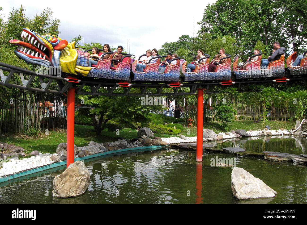roundabout in le jardin d acclimatation paris france stock image - Jardin D Acclimatation Paris