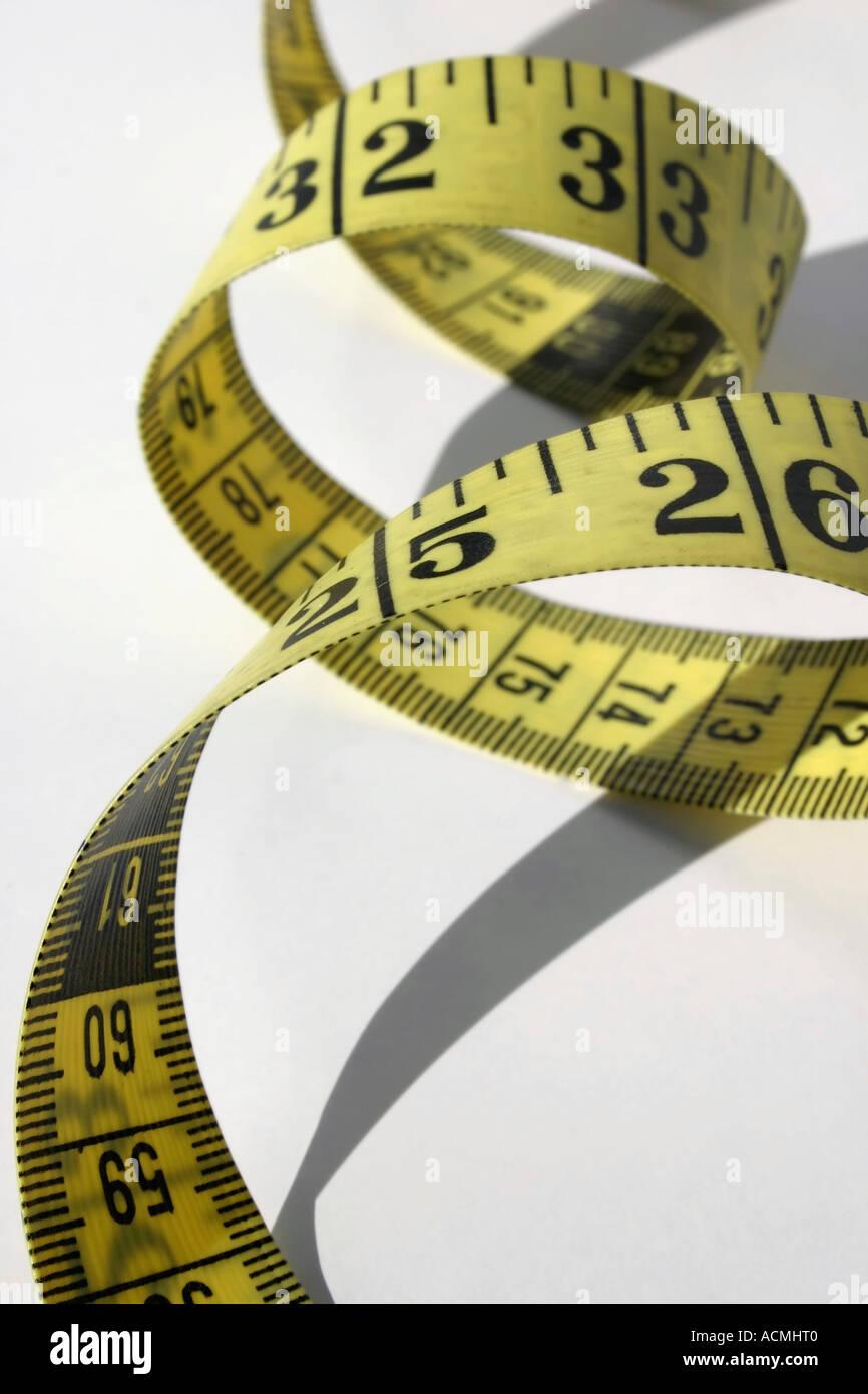 measuring tape - Stock Image