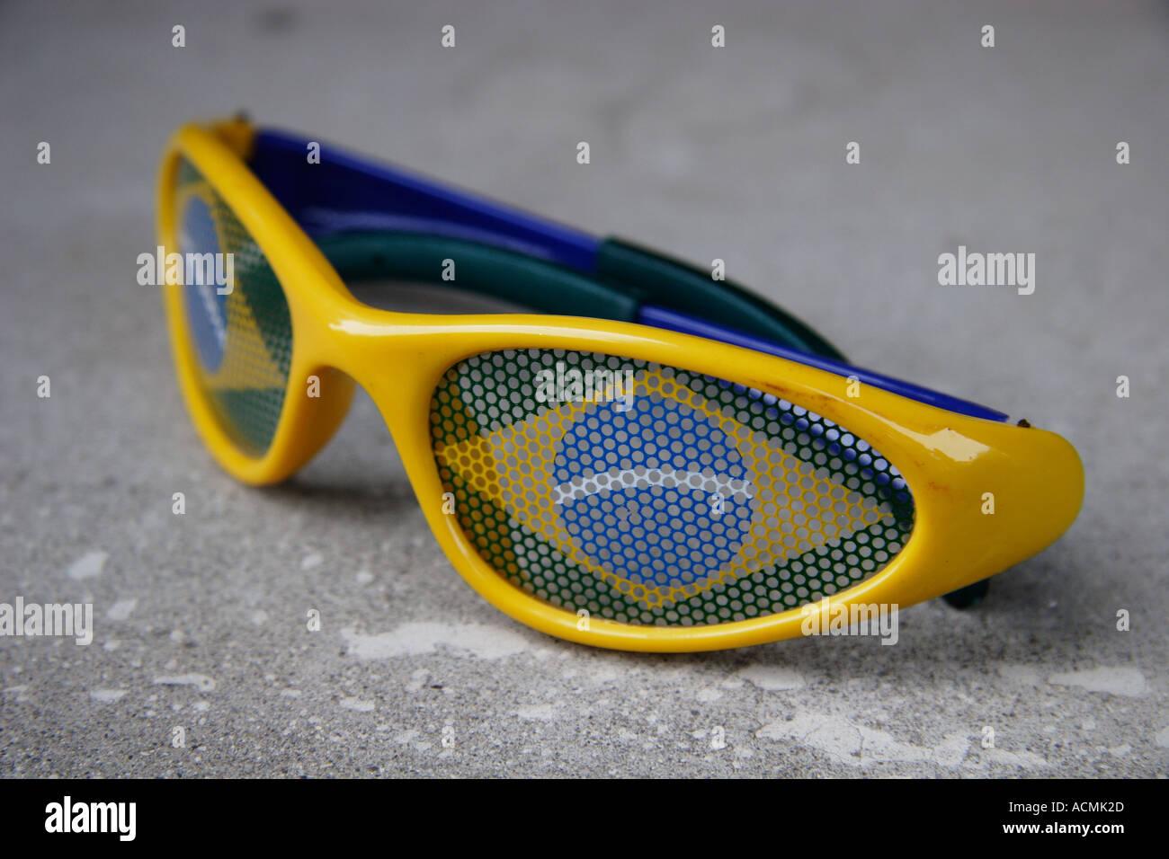 sunglass chil children color colours sun glass modern brazil - Stock Image