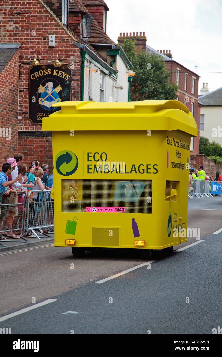 Tour de France publicity vehicle passing through Canterbury Kent 2007 - Stock Image