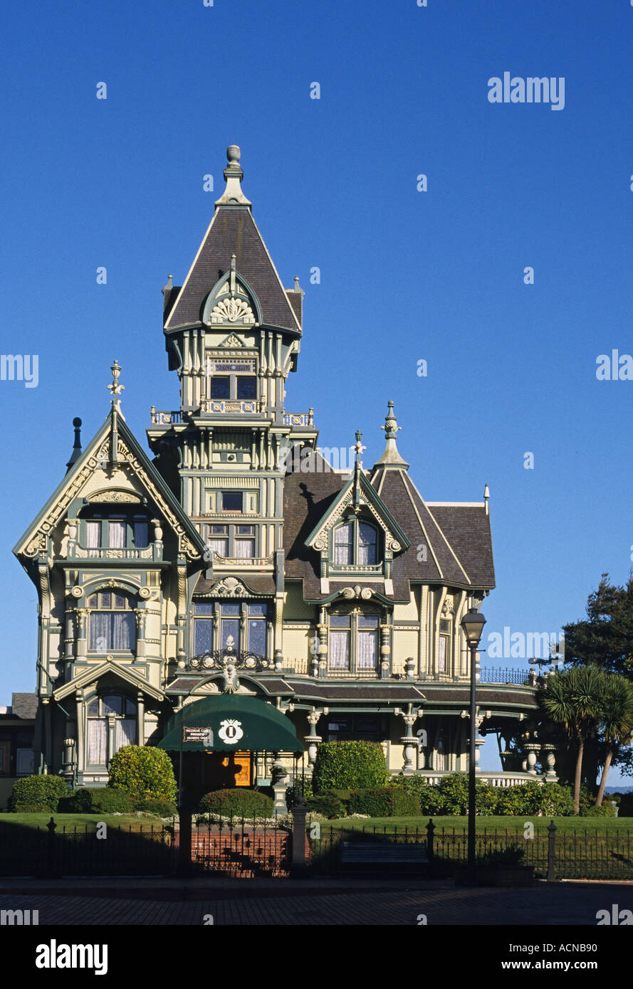 California Redwood Empire Eureka Carson Mansion built 1886 - Stock Image
