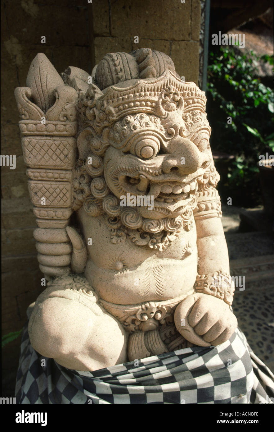 Indonesia bali craft stone carving sculpture of